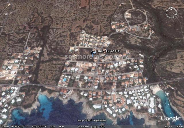 Solar en venta en Binisafuller (Menorca) con vista mar, 1149 m² solar, cualificación urbanística (urbano)edificabilidad 25 %.