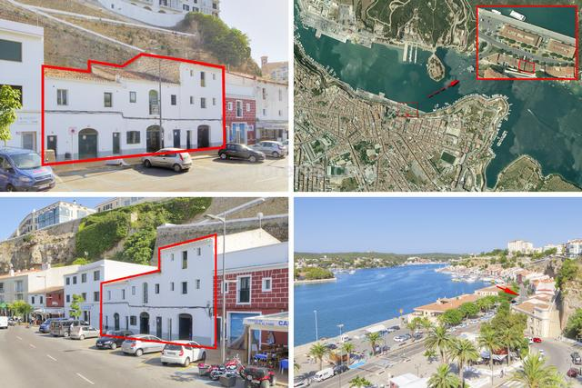 Old harbour warehouse with approximately 630m2 built area. It is located in the central area of the port of Mahon just a few metres from the access to the centre of Mahon. The property offers a wide range of possibilities for reform, expansion and even different types of projects. It has a 21 metre facade and the possibility of extending up to about 900m2. It would be ideal to develop as restaurant, a small hotel, or residential.