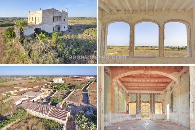 Country estate with 100.000m² of land and where there stands a period house of 516m² built area, plus other agricultural buildings. It has well with abundant water and electricity from the public network.
