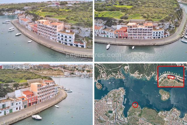 You will never be able to build a hotel like this, located on the edge of the sea in a place so privileged and with such charm as the old part of Mahon harbour, where a new stretch of marina is planned. The current state of the building has 1,347 m² built area which is distributed as 17 apartments. It has an approved project with licence to convert it into luxury apartments.