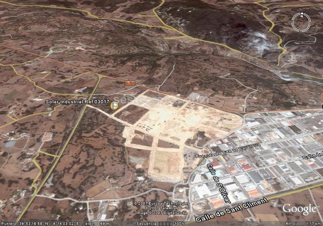 83769 m² solar, cualificación urbanística (industrial), sin urbanizar.